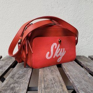 """NWT Madewell """"Sky"""" Red Manchester Crossbody Purse"""